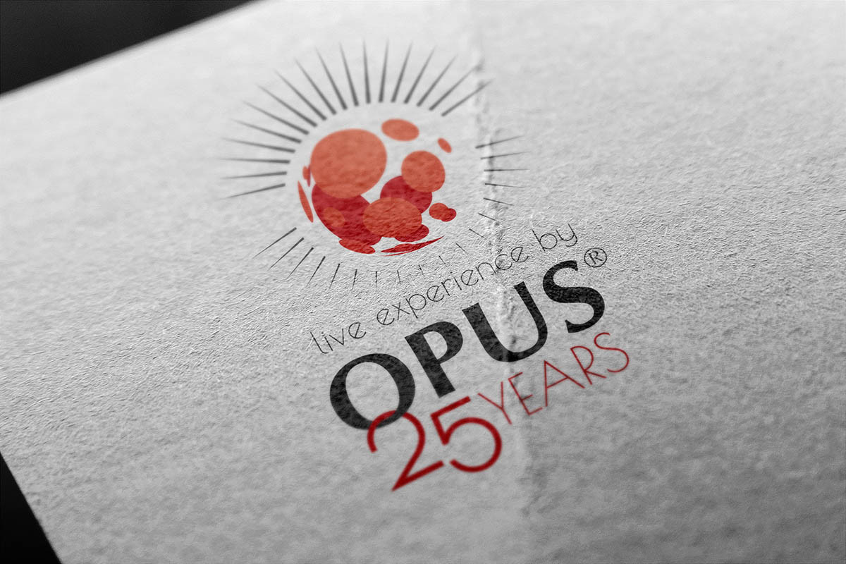 Anniversary Logo Design für Opus Events & Management Wien